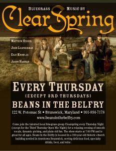 ClearSpring Thursday Flyer