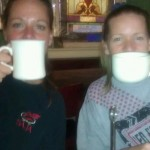 coffee lovers at Beans in the Belfry