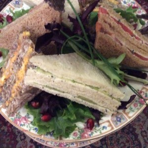 Afternoon Tea for Two tea sandwiches close up